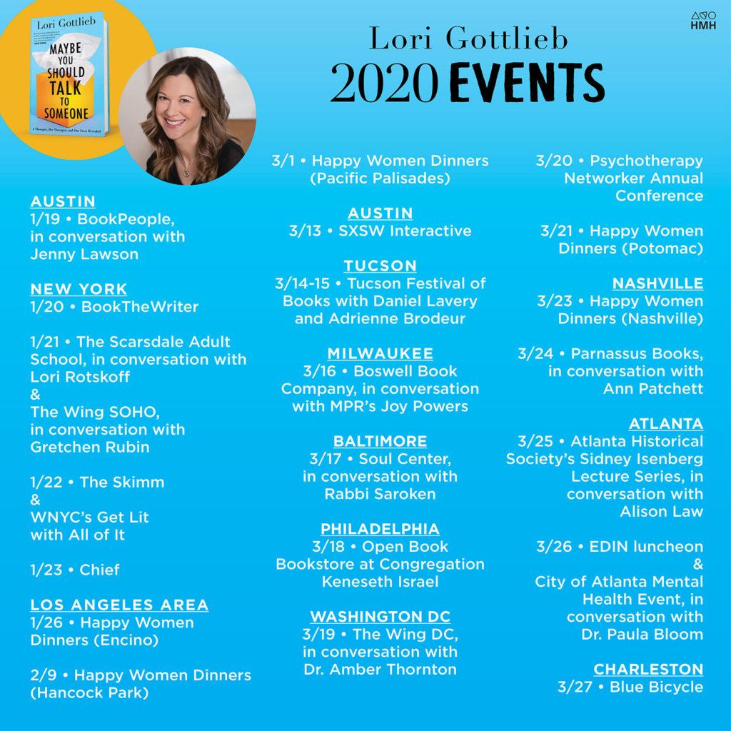 Lori Gottlieb 2020 Events